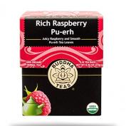 Organic Pu-erh Tea, Rich Raspberry Pu-erh Tea, 18 Bleach Free Tea Bags