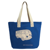 VW CANVAS SHOPPER BAG - DARK BLUE