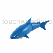 Tobar Wind Up Clock Work Shark Attack Swimming Shark Fish Toy Bath Light Blue