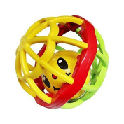 Aikoi Baby Toys Infant Rattle Ball Teether Grasping Activity Toy Bendy Ball