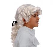 Kangaroo's Child George Washington Wig, Kids Colonial Wig, White