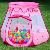 Pink Princess Tent Indoor and Outdoor 1-8 Years Old Children Game Play Toys Tent Balls Not Included