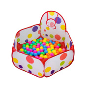 Stuffwholesale Play Tent with Basketball Hoop, 1.2m Large Portable FoldablePolka Dot Kids Play Ball Pit Pool Children Kids Gifts, Balls not included