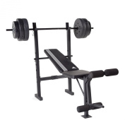adidas Essential Combo Training Bench with weight Set, 45kg