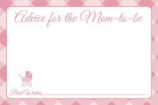 Jot & Mark Baby Shower Advice Cards for New Moms 25 Cards per Pack, Pink