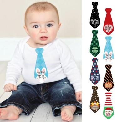 Baby's First Holidays Milestone Necktie Stickers - Set of 8 Tie
