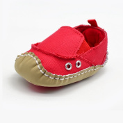 Lidiano Baby Toddler Sewing Canvas Slip On Non-slip Rubber Sole Slip On Crib Shoes Sneakers First Walker