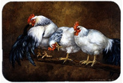 Roosting Rooster and Chickens Kitchen or Bath Mat 20x30 BDBA0081CMT