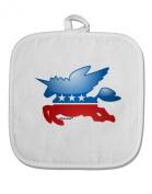 TooLoud Unicorn Political Symbol White Fabric Pot Holder Hot Pad