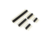 HQ 10P 10-Pin 1.27mm Straight Male Header - Black - Pack of 10