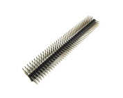 3x40 Pin 2.54mm Triple Row Straight Male Header Right-angle - Black