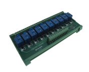 10 Channel 24VDC Relay Board PLC DIN Rail Mounting PNP