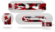 WraptorCamo Digital Camo Red Skin fits Beats Pill Plus