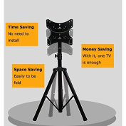 Portable Flat Panel Monitor Stand with Foldable Tripod