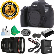 Canon EOS 6D 20.2 MP Digital SLR Camera Body, Canon 24-105mm L Zoom Lens, Original Canon Battery and Charger, 3 Year USA CPS Warranty, 5pc ZEEKITS Starter Set
