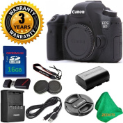 Canon EOS 6D 20.2 MP Digital SLR Camera Body, Original Canon Battery and Charger, 3 Year USA CPS Warranty, 16GB ZEEKITS Memory Card, Card Reader