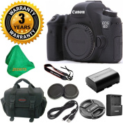 Canon EOS 6D 20.2 MP Digital SLR Camera Body, Original Canon Battery and Charger, 3 Year USA CPS Warranty, Deluxe Camera Case