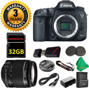 Canon EOS 7D Mark II Digital SLR Camera Body, Canon 18-55mm IS STM Lens, Original Canon Battery and Charger, 3 Year USA CPS Warranty, 32GB ZEEKITS Memory Card, Card Reader