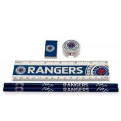 Rangers F.C. Core Stationery Set 2 X Pencils 1 X Ruler 1 X Pencil Sharpener 1 X Rubbers