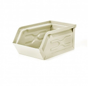 Kikkerland Metal Storage Container, Ivory