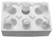 Mayco Large Designs Press Tools Set 2, 2.5cm - 1.9cm , White, Set of 6