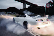 Toyota Supra Drifting Car Silk Poster 90cm x 60cm by TST INNOPRINT CO