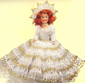 Vintage Crochet PATTERN to make - Fairy Queen Doll Dress 20cm Pattern. NOT a finished item. This is a pattern and/or instructions to make the item only.