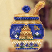 Honey Pot Beaded Counted Cross Stitch Ornament Kit Mill Hill 2012 Autumn Harvest MH18-2202