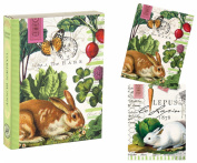 Michel Design Works 12 Count Library Notes, Garden Bunny
