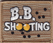 """B. B. SHOOTING""- Iron On Embroidered Applique Patch- Sports, Compete.Gun"