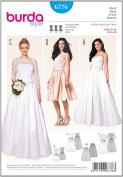 6776 Burda Wedding Dress Sewing Pattern Sizes 8-18