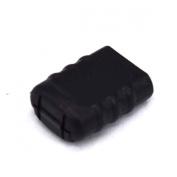 10pcs Hole 5mm*3mm Cord Ends Zipper Pull Cord Lock Stopper Black