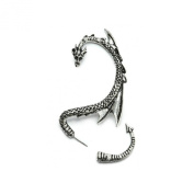 Silver Phantom Jewellery Women's Silver Tone Dragon Ear Cuff Wrap Earring Gothic Jewellery