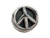 Zable(tm) Sterling Silver Large Peace Sign Bead / Charm
