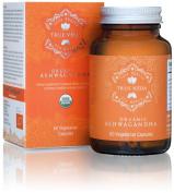 Organic Ashwagandha Vegetarian Capsules | Certified USDA Organic | 100% Natural Herbal Supplement | Ayurveda Formula known as Withania Somnifera | KSM-66 | KSM66 | 60 Easy Swallow Pills