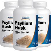 Nutricost Psyllium Husk 500mg; 500 Capsules