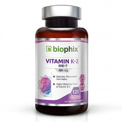 Biophix MK-7 Vitamin K2 - 300 mcg 120 Vcaps