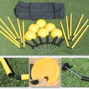 SSG/BSN Indoor/Outdoor Agility Pole System Set