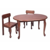 Home Kids Natural Hardwood Queen Anne Oval Table And Chair Set Cherry