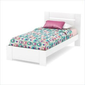 South Shore Reevo 100cm Twin Bed Set in Pure White