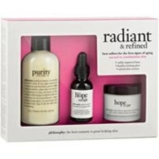 Philosophy Radiant And Refined Kit 240ml Purity Made Simple 3-In-1 Cleanser, 30ml When Hope Is Not Enough, 60ml Hope In A Jar