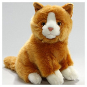 Soft Toy Cat brown, 23cm. [Toy]