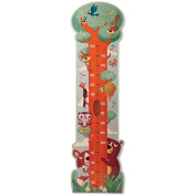 Dida - Metro by a wooden wall height measure for children in the form of a great tree with so many animals of the forest.