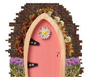 Cute Novelty Daisy Door Stickers for Skirting Board Self Adhesive Vinyl Wall Sticker Décor