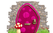 Cute Novelty Pixie Door Stickers for Skirting Board Self Adhesive Vinyl Wall Sticker Décor