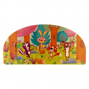 Dida - hanger from a wooden wall for children with animals of the forest that play.