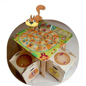 Dida - square table in wood for the bedroom of children - table Goose Game - Gira turns the snail