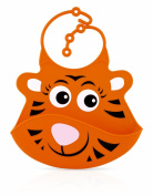 Nuby Roly Poly Tiger Bib