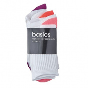 Basics Brand Women's Crew Socks 5 Pack