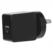 Tech.Inc USB Wall Charger 2.4A Black